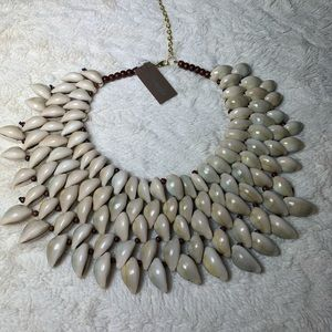 Natasha Conch Shell Bib Necklace